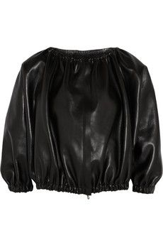 Lanvin Leather bomber jacket | NET-A-PORTER