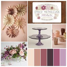Fall bridal shower trends: mauve mist & country florals