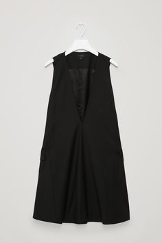 COS | A-line dress with low V-neck