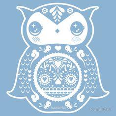 sky blue owl by Team Kitten