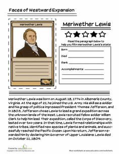 1000 images about westward expansion on pinterest lewis and clark trading cards and worksheets. Black Bedroom Furniture Sets. Home Design Ideas