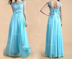 lace prom dress blue prom dress long prom dress long by fitdesign, $139.00