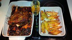 Agnello  al forno, cottura 5hr a 120 gradi