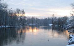 An icy serene pond - beautiful!