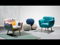 Szövet fotel - patchwork - MELBY