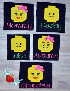 Items similar to Personalized - Lego- Legoland - Inspired -Shirt - Family-Vacation- Trip - Parks - Applique- Family -T-Shirt - Embroidery - Monogram -Name on Etsy Family Birthday Shirts, Family Birthdays, Family Vacation Shirts, Family Shirts, Family Trips, Family Vacations, Lego Shirts, Disney Shirts, Disney Family