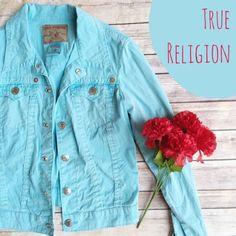 True Religion Rare Baby Blue Jean Jacket