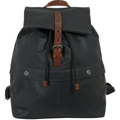 Ally Capellino Black Kelvin Canvas Backpack (£180) ❤ liked on Polyvore featuring bags, backpacks, backpack, bolsas, black canvas bag, square backpack, black knapsack, studded canvas backpack and black backpack