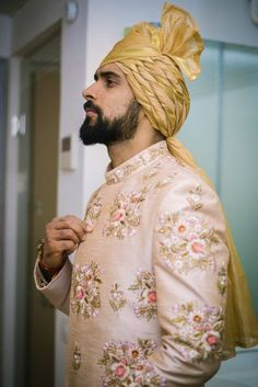 Weddings Discover An Intimate Wedding With 100 Guests And An Adorable Love Story Sherwani For Men Wedding, Wedding Dresses Men Indian, Sherwani Groom, Wedding Dress Men, Indian Wedding Planning, Wedding Poses, Wedding Shoot, Wedding Attire, Indian Groom Dress