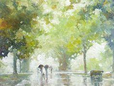Rainy Avenue by litka.deviantart.com on @DeviantArt http://litka.deviantart.com/art/Rainy-Avenue-254748560