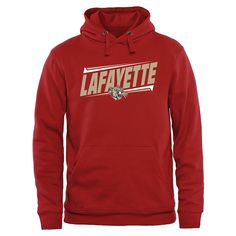Lafayette College Leopards Double Bar Pullover Hoodie - Crimson - $44.99