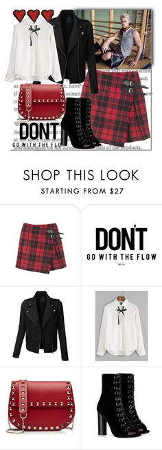 """""""My Style Muse"""" by ahapplet ❤ liked on Polyvore featuring Burberry, LE3NO, Valentino, Barbara Bui, rock, vest, kilt and ahapplet"""
