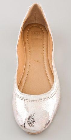 Frye Carson Metallic Ballet Flats   SHOPBOP