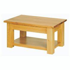 Studio Solid Oak Coffee Table with Shelf