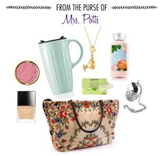From the Purse of: Mrs. Potts | What would Mrs. Potts have in her handbag? | [ https://style.disney.com/living/2016/03/15/from-the-purse-of-mrs-potts/ ]