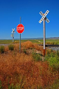 Quiet Railroad Crossing, near Bancroft, Idaho by Matt McGrath Photography, via Flickr
