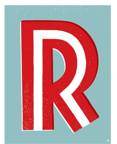 Letter R By Methanestudios On Etsy