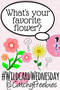 April is National Garden Month! What's your favorite flower? Tell us and you could win a sample of your choice from our stash! #WildcardWednesday
