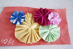 Fabric scrap pinwheels