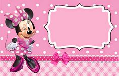Printable Minnie Mouse Labels
