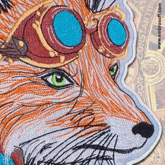Size of large patch Fox in Steampunk style is 8.3 x 11.6 inches (23 X 29.5 cm).    BACKING:  Sew on - You can hand sew or machine sew it on your garment.    FABRIC: Denim.    THREAD: Viscose.    PERFECT FOR: t-shirts, polo shirts, jackets, backpacks, bags, jeans etc.    SHIPPING: Air mail - free (10-15 days). | Shop this product here: spreesy.com/EmbroSoft/228 | Shop all of our products at http://spreesy.com/EmbroSoft    | Pinterest selling powered by Spreesy.com