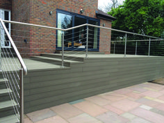 Our stainless steel Wire Rope System is a cost effective alternative to our Crossbar System. This handrail and balustrade infill system offers a long lasting, elegant and contemporary look to your design. Garden Railings, Deck Railings, Stainless Steel Wire, Brick, Alternative, Chrome, Contemporary, Outdoor Decor, Commercial