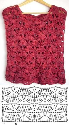 Receba as mais lindas receitas de crochê and knitting knit knitting crochet diy Shawl Crochet, Débardeurs Au Crochet, Pull Crochet, Gilet Crochet, Mode Crochet, Crochet Shirt, Crochet Diagram, Crochet Woman, Crochet Crafts