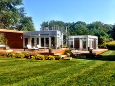 Beautiful day at the Origins in Massachusetts. #prefab # origins #bluhomes