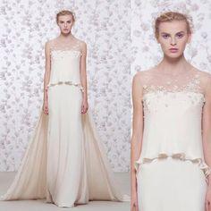 Supreme romance in cream... #GEORGESHOBEIKA Bridal 2016. #bridal2016 #weddingdresses