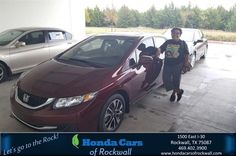 https://flic.kr/p/NG8Nx3 | Happy Anniversary to Remedios on your #Honda #Civic Sedan from Alan Williams at Honda Cars of Rockwall! | deliverymaxx.com/DealerReviews.aspx?DealerCode=VSDF