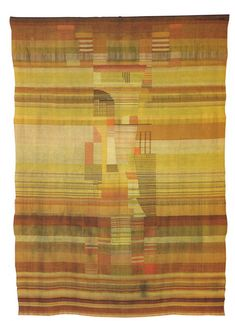 Gunta Stölzl, 1923 Flatweave, combined with Gobelin technique: cotton, silk and wool.  Busch Reisinger Museum/Harvard University Art Museums, Cambridge, MA.