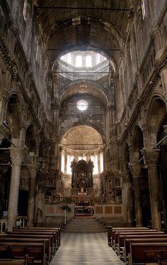 Interior of Cathedral of St. James (Sv. Jakov), Šibenik, Croatia