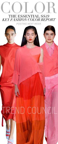 S/S 2019 key fashion color trend