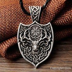 Legendary Viking Aegishjalmur Necklace - Free Shipping - DeYoLi