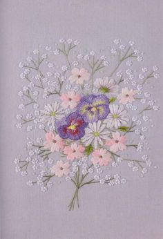 Embroidered Flower bouquet.