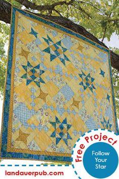 Follow Your Star Free Quilt Pattern by Sandi Blackwell through Landauer Publishing