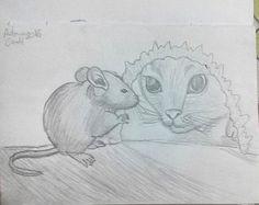 #illustration #ilustração #sketch #sketchbook #draw #drawing #desenho #mouse #rato #gato #cat