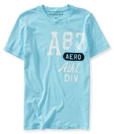 Aeropostale Mens A87 Athletic Division Distressed Graphic Tshirt - Vulcinity