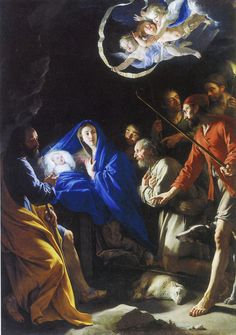 Buy the oil painting reproduction of The Adoration of the Shepherds, by Philippe de Champaigne, Satisfaction Guaranteed, ***** 30 days money-back! The Adoration of the Shepherds, oil painting replica. Religious Images, Religious Art, Philippe De Champaigne, Nativity Painting, Jesus Christus, Baroque Art, Biblical Art, O Holy Night, Birth Of Jesus
