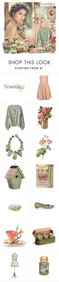 """The only place you can find happiness is in yourself...."" by tina-teena ❤ liked on Polyvore featuring Aime, Forever 21, Mary Frances Accessories, Viktoria Hayman, Wren, Chloé, Agraria, INC International Concepts, Mini Cream and Yankee Candle"