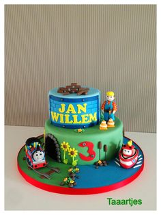 Bob the Builder, Thomas the Train and Elias cake Made by Taaartjes