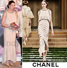 ~ PRINCESS CAROLINE (L) LOOKS MUCH BETTER IN THIS CHANEL DRESS ~ Chanel Spring 2016 Haute Couture