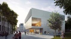 HPP selectionnés à la refonte de l'Université de Cologne de Musique et Danse, Cour. Image © HPP Architectes