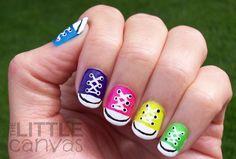converse nail art
