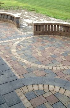 Patio Circular Kit Pavers Circle Paver Pattern Design Ideas Best Backyard Stone Kits Lowes Home Depot How To Make A Round With Square