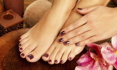 Groupon - Mani-Pedi Services from Ally at Nails by Ally (Up to 49% Off). Three Options Available.   in Anaheim. Groupon deal price: $19