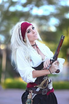 Jack Sparrow (Pirates of the Carribean) Cosplay By: Jessica Nigri #Cosplay This was actually a pirate themed wedding