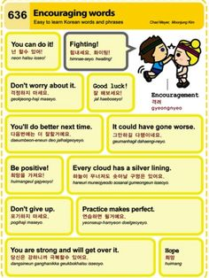Learning Korean: encouraging words