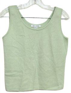 f085d81e9666b St. John Green Santana Knit Tank Top Cami Size Petite 6 (S) 92% off retail