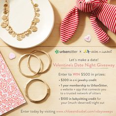 Enter today for your chance to win $500 in Valentine's Day prizes!  Chloe + Isabel's beautiful new capsule, La Dolce Vita, just launched + I thought  of you rocking these gorgeous + dainty jewelry sets. Check out my boutique for more styles + Valentine's Day Ideas! Https://chloeandisabel.com/boutique/beautybymaggy